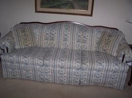 THREE-CUSHION STRIPED SOFA