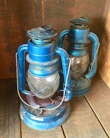 Vintage, Blue, DIETZ NO.1 and DIETZ MADE IN USA Lanterns