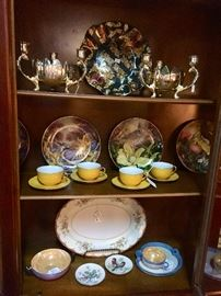 China Cabinet with iridescent items
