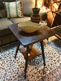 Square Mahogany Antique Table