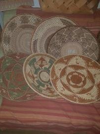 Gullah sweetgrass woven baskets