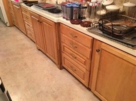 Kitchen cabinets for sale 1500 for all or 150 per cabinet solid wood