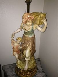 Lady and child lamp