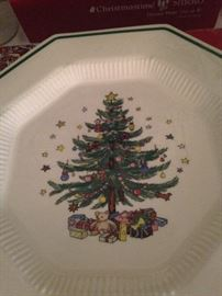 "Nikko ""Christmastime"" china - 8 dinner plates available"