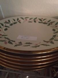 "Lenox ""Holiday"" china - salad plates"