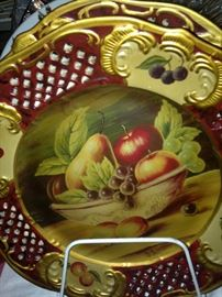 One of two fruit plates in vibrant colors