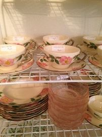 Desert Rose cups & saucers