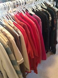 Many sweaters and jackets