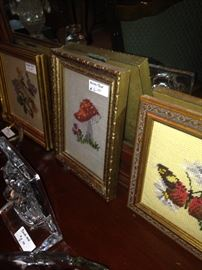 Framed needlepoint designs