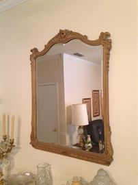 Matching mirror for marble top entry table