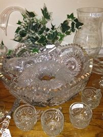 Another punch bowl and cups