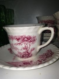 One of several Johnson Bros cups & saucers  - England