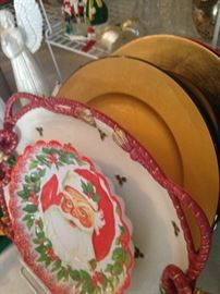 Christmas plates and chargers