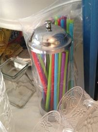 Fun straw holder