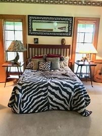 Exotic Bedroom with full size bed