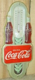 "16"" - 1942 Metal Drink Coca-Cola Thermometer"