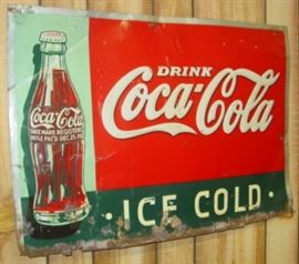 "19"" x 27"" Metal Drink Coca-Cola Ice Cold Sign"