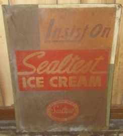"20"" x 28"" Metal Sealtest Ice Cream Sign"