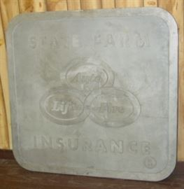 "48"" x 51"" Cast Aluminum State Farm Insurance Sign"