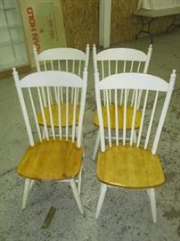 Set of four dinette chairs