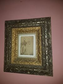Double carved antique frame