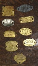 Collection of Old Dog Tags 1920's thru 1940's