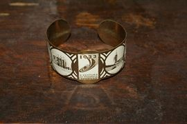 1933 Chicago Worlds Fair A Century of Progress Cuff Bracelet