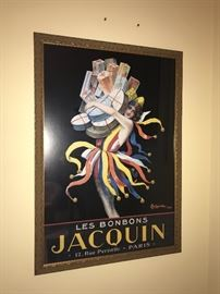 Les Bonbons JACQUIN Paris - framed art