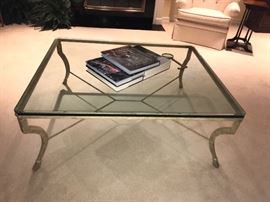 Large Glass cocktail table
