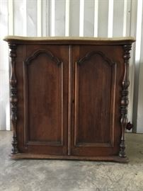 Antique Marble Top Cabinet     https://ctbids.com/#!/description/share/53179