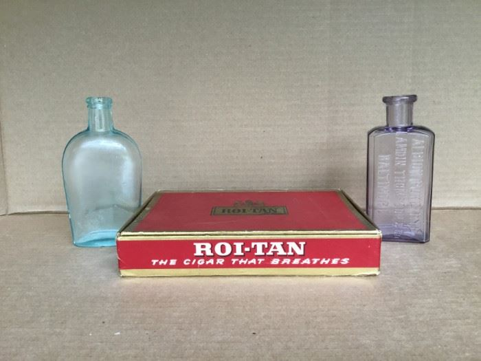 Roi-Tan Cigar Box and Glass Medicine Bottles https://ctbids.com/#!/description/share/53053