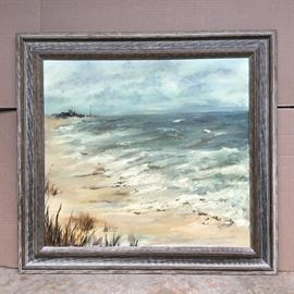 "Framed Art ""Seascapes"" with Wooden Frame https://ctbids.com/#!/description/share/53058"
