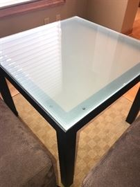Art glass style accent table