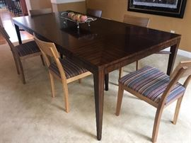 Stunning dining room table with beautiful top (chairs sold separately)