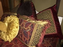 Dian Austin  Bedding. The round yellow pillow is not included in the sale