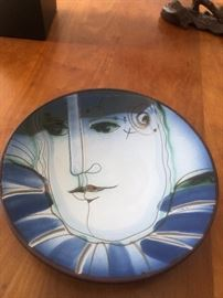 Signed terra cotta plate by Espinosa