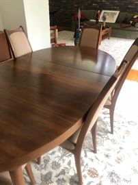 "Morredi Walnut dining room table 6 chairs 60 x 42 2 extension 20"" each ! BUY IT NOW $1000, Norwegian teak Sideboard by Frederick Kayser for Gustav Bahus 85 x 17"" Buy it now $1200"