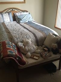 Queen size bed - wicker.