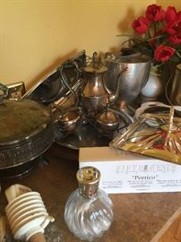 Lots of Silverplate serving pieces.