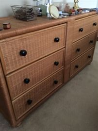 Well built wicker dresser
