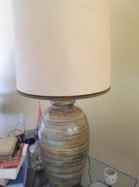 I love the colors on these lamps.