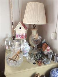 Great lamps, birdhouses