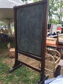 Antique Chalkboard  on wheels