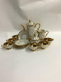 Bavarian Gold Porcelain Tea/Demi-Tasse Set  http://www.ctonlineauctions.com/detail.asp?id=764774