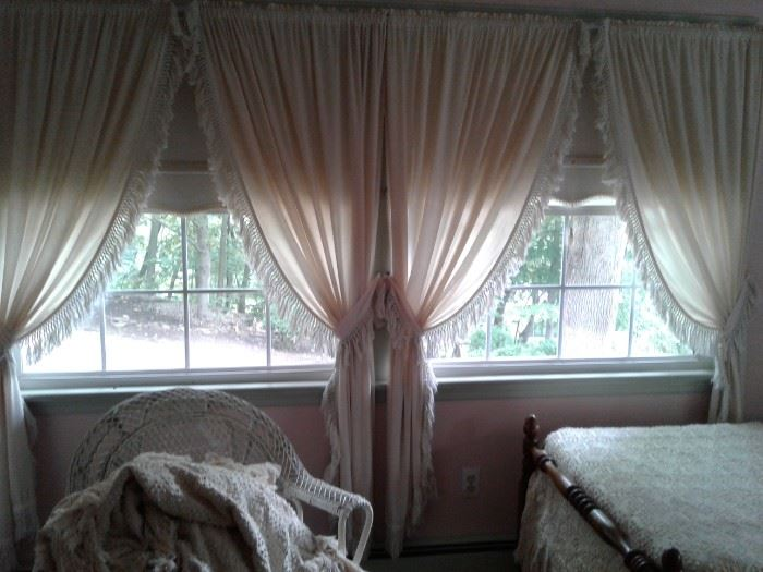 Selection of vintage Country curtains window treatments