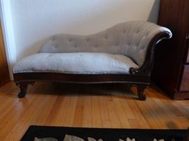 Antique Victorian childs/salesman sample sofa. Very solid and sturdy, in expected antique condition. Originally from Nova Scotia.      size / dimensions: 48 x 20 x 23