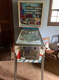 Gottleib Fast Draw pinball machine WORKS