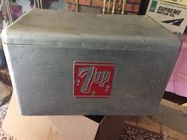Vintage 7Up cooler