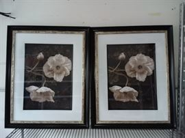 2 Sepia Floral Prints