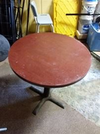 11 Small Round Commercial Tables